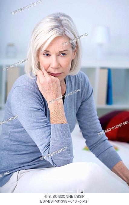 Elderly person indoors