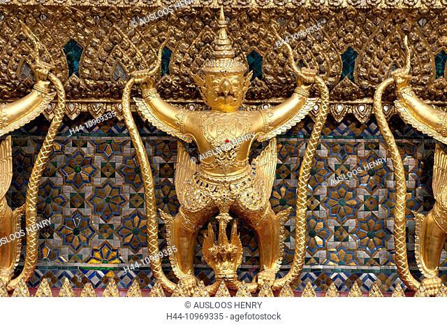 Wat Arun, Temple of dawn, Bangkok, Thailand, Asia, figures