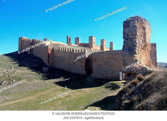 Castle of Molina de Aragón, built by Lara (12th-13th century), Guadalajara province, Castilla-La Mancha, Spain