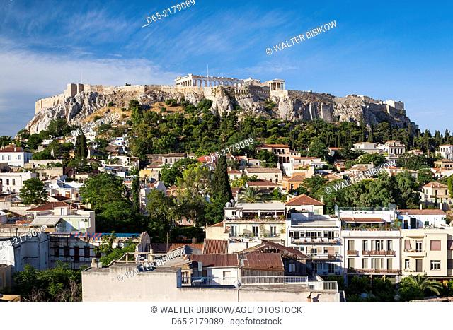 Greece, Central Greece Region, Athens, Acropolis, elevated view, morning