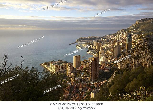 Aerial view of Montecarlo, Principality of Monaco