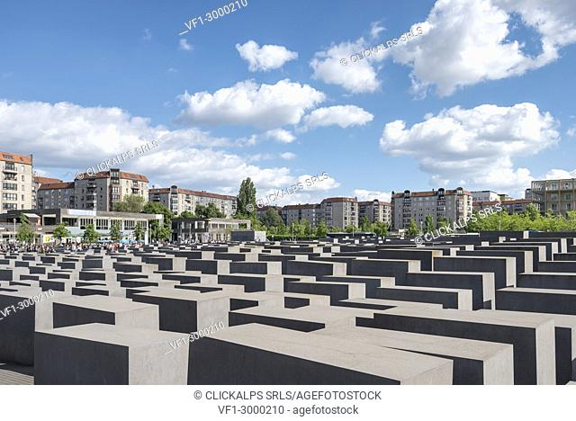 The Holocaust memorial monument in Mitte district, Berlin, Germany, Europe