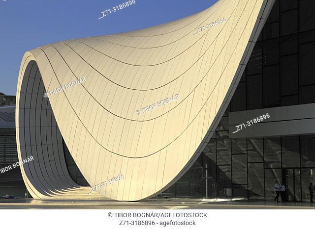 Azerbaijan; Baku, Heydar Aliyev Center, Zaha Hadid architect,