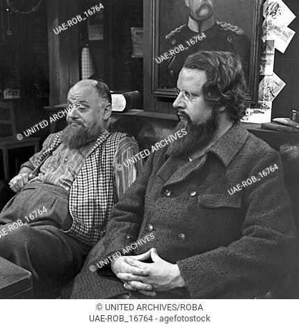 Socialaristokraten; Fernsehfilm; Deutschland 1966; Regie: Claus Peter Witt; Darsteller: Ernst Mitulski (links), Gert Haucke