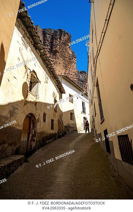 Riglos town, Hoya de Huesca, Aragon, Spain