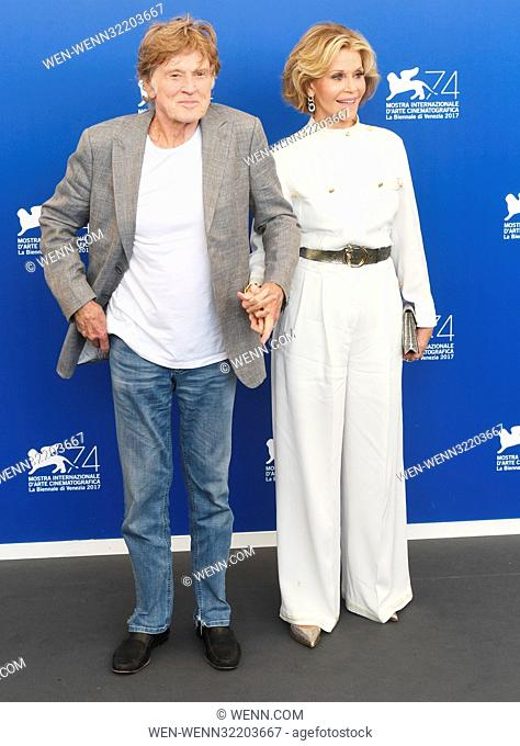 74th Venice Film Festival - 'Our Souls At Night' - Photocall Featuring: Robert Redford, Jane Fonda Where: Venice, Italy When: 01 Sep 2017 Credit: WENN