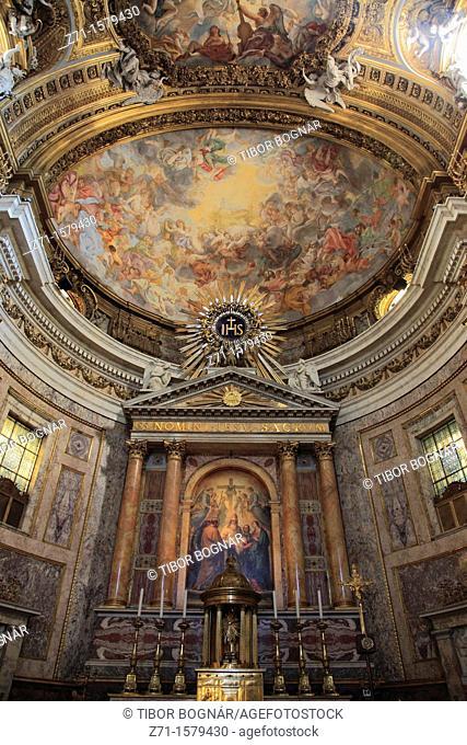 Italy, Lazio, Rome, Church of the Gesu, interior