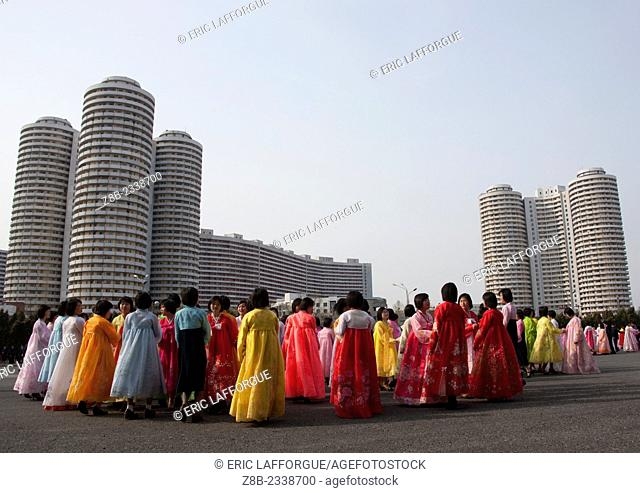 Mass Dancing, Pyongyang, North Korea