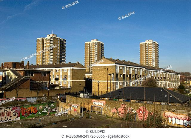 Council housing, Bow, London, UK, 2008