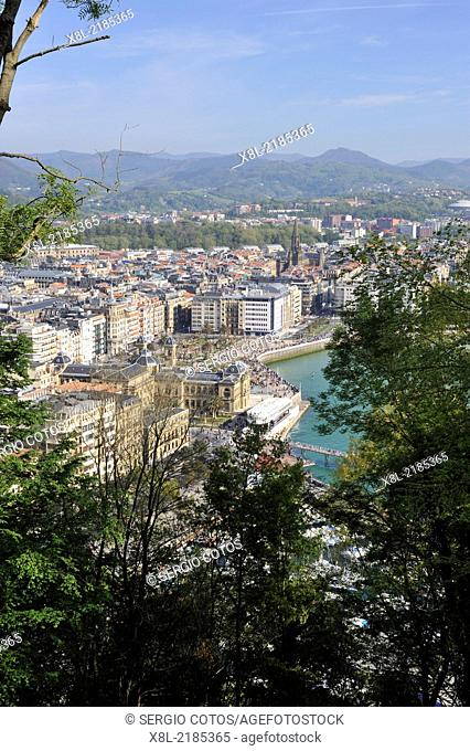 View of San Sebastian from the top of Monte Urgull