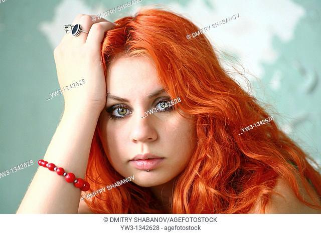 pretty redhead girl