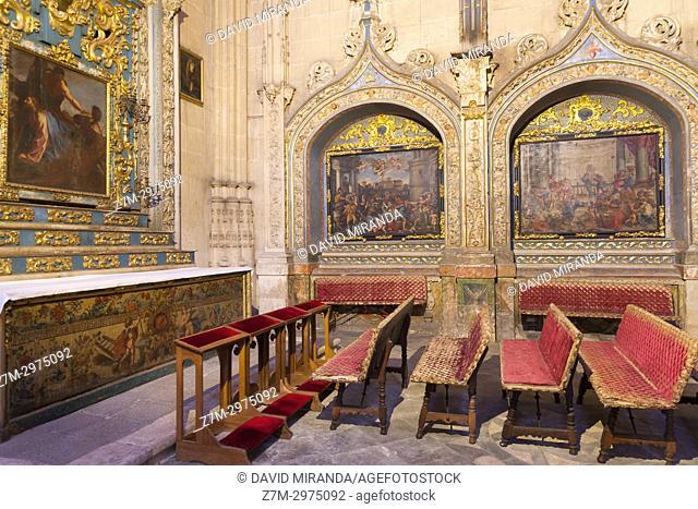 Capilla de Jesús de Nazareno. Catedral Nueva de Salamanca. Ciudad Patrimonio de la Humanidad. Castilla León. España