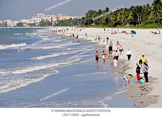 The beach at Naples Florida on the Gulf of Mexico