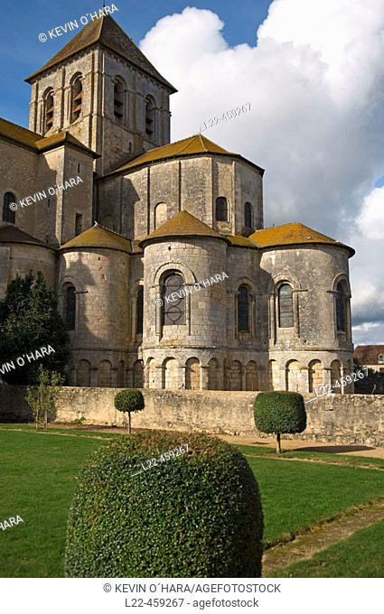 Church of Saint Savin sur Gartempe. Known as the 'Romanesque Sistine Chapel', the Abbey. Church of Saint Savin contains many beautiful 11th.  and 12th