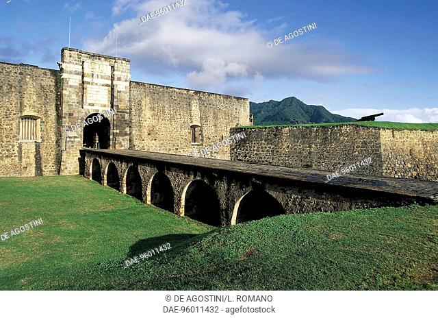 Saint-Louis Fort or Charles Delgres Fort, from 1643, Basses Terres, Guadeloupe (Overseas Department of the French Republic)