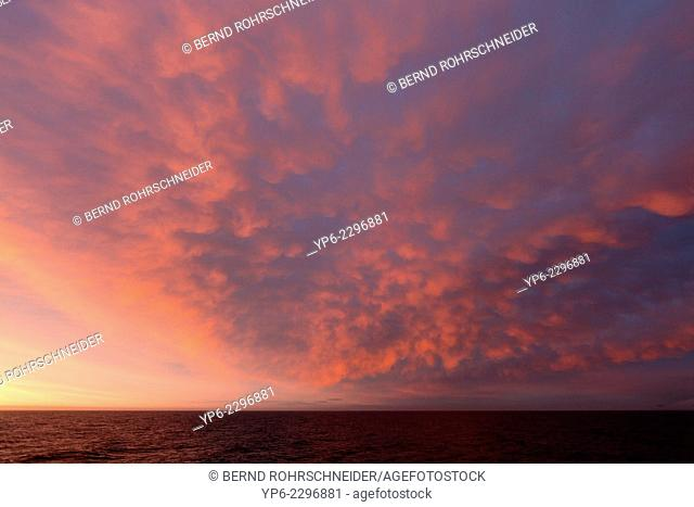 sky over Arctic Ocean at sunset, Erik Eriksenstretet, Svalbard