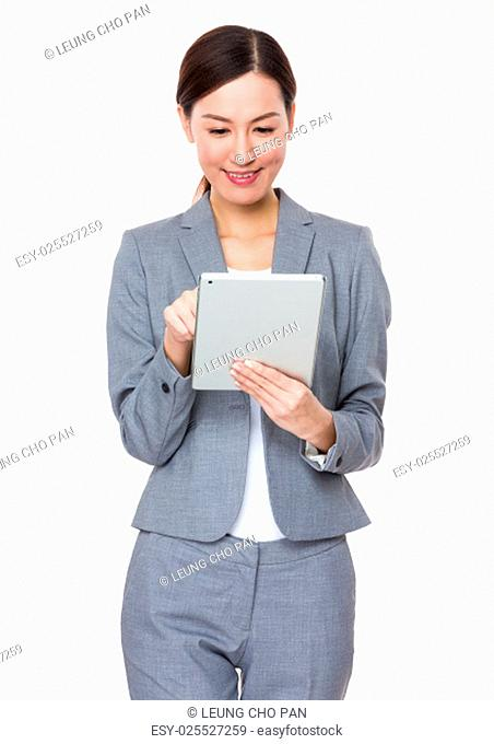 Businesswoman use of digital tablet
