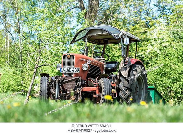 Sulzberg, Bavaria, Germany, Güldner G 45 tractor, built in 1967, engine capacity 3140 cc, 45 hp