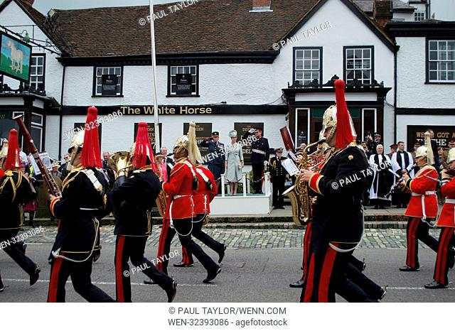 Sophie, Countess of Wessex attends the Farewell Parade in Dorking Surrey, to honour the staff and service men and women from Headley Court rehabilitation centre...