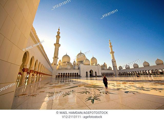 Sheikh Zayed Mosque, Abu Dhabi, . United Arab Emirate