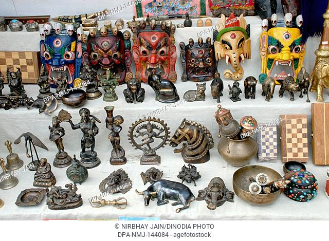 Handicraft shop main market at Leh ; Ladakh ; Jammu & Kashmir ; India