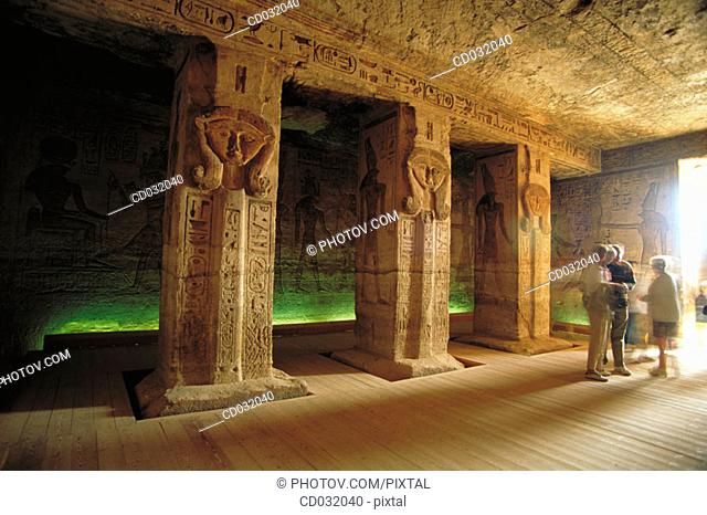 Temple of Nefertari. Abu Simbel. Aswan