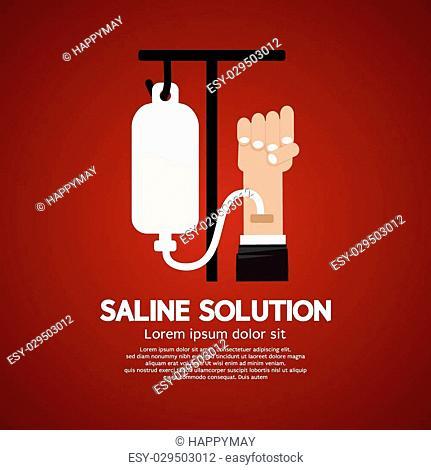 Saline Solution Medical Concept Vector Illustration