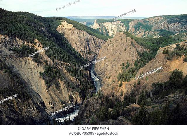 Aerial of the Stikine Grand Canyon, British Columbia, Canada