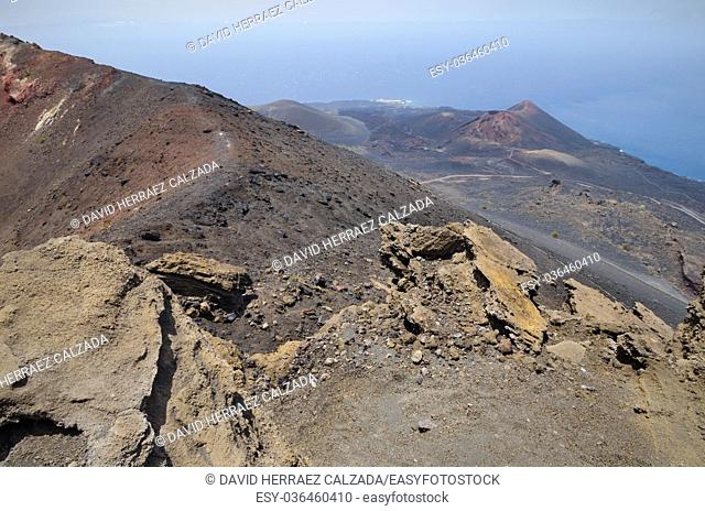San Antonio Volcano. Volcanic landscape in La Palma, Canary islands, Spain