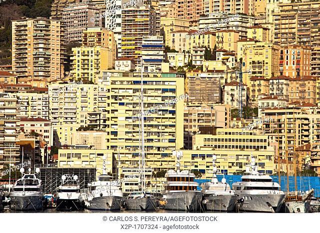 Hercules Port in La Condamine, Monaco, Europe, Europe