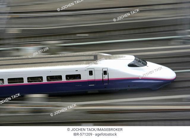 Shinkansen high-speed train, Tokyo, Japan, Asia