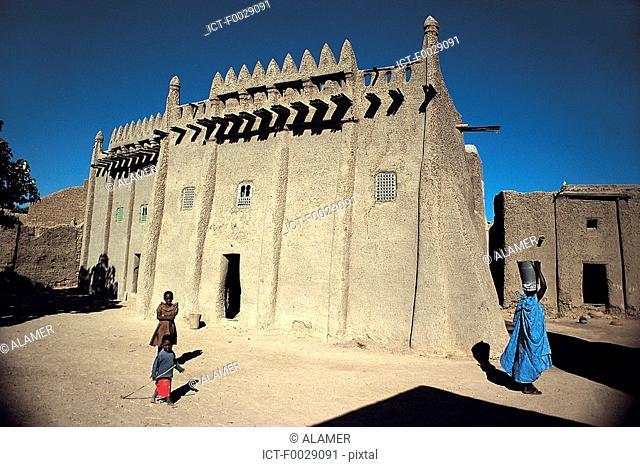 Mali, Djenné, old traditionnal house