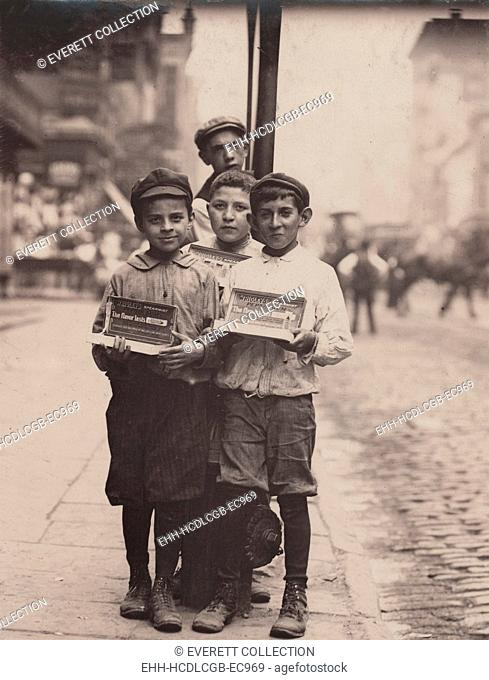 Child labor, vendors on the Bowery, New York City, photograph by Lewis Wickes Hine, July, 1910