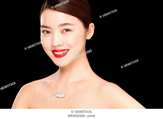 The young woman makeup portrait