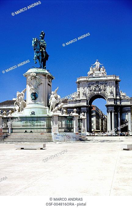 portugal lisboa entrance monument portal access empty facade