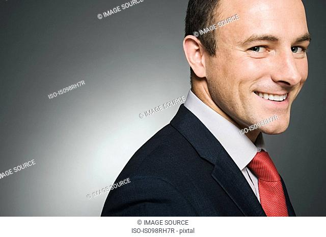 A smiling businessman