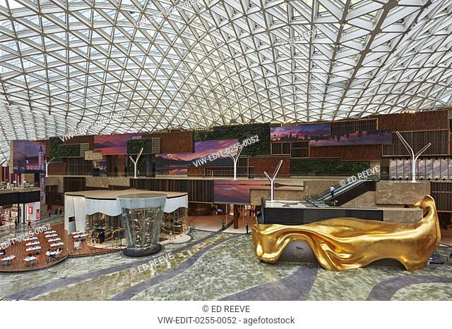Interior of the Spectacle. MGM Cotai, Macau, China. Architect: Rockwell Group, 2018
