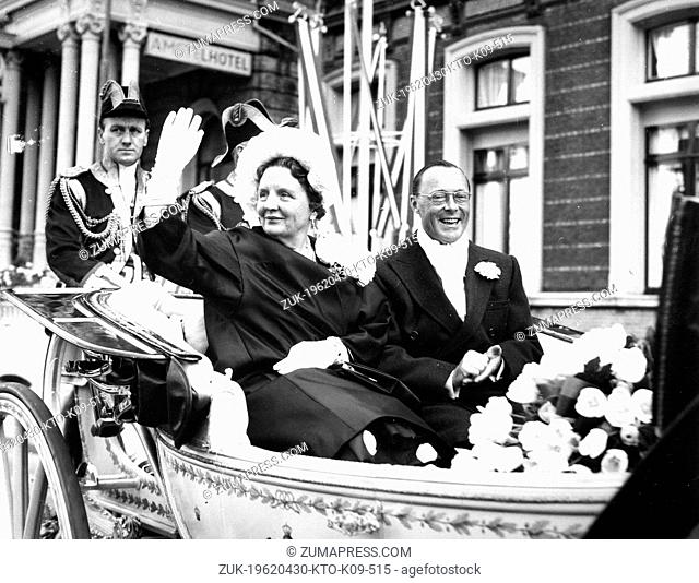 Apr. 30, 1962 - Amsterdam, Holland, Netherlands - QUEEN JULIANA (1909 - 2004) was Queen regnant of the Kingdom of the Netherlands she was married to PRINCE...