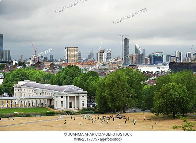 View from The Royal Observatory, Greenwich, London, UK