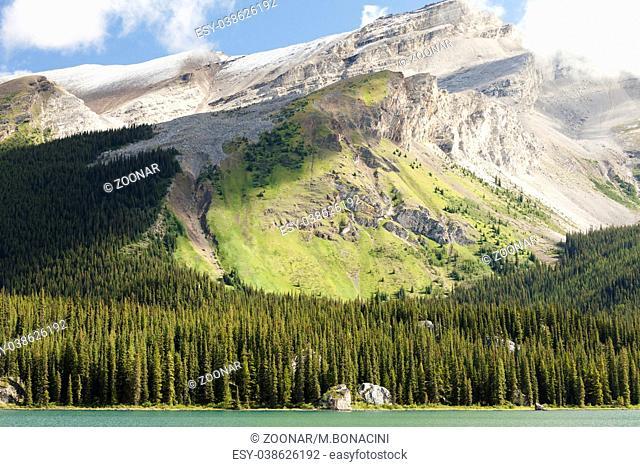 Mountains Maligne Lake Banff National Park West Canada