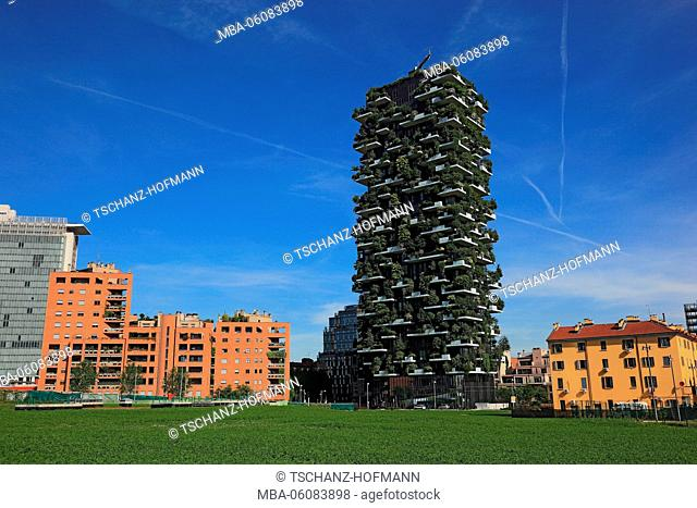 Italy, Milan (city), project, Bosco Verticale, vertical forest, high rise
