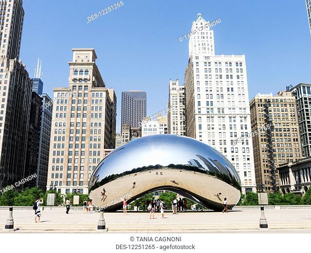 Anish Kapoor's Cloud Gate (Bean), Millennium Park; Chicago, Illinois, United States of America
