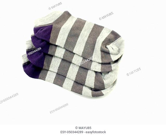 collection of colored socks isolate on white background