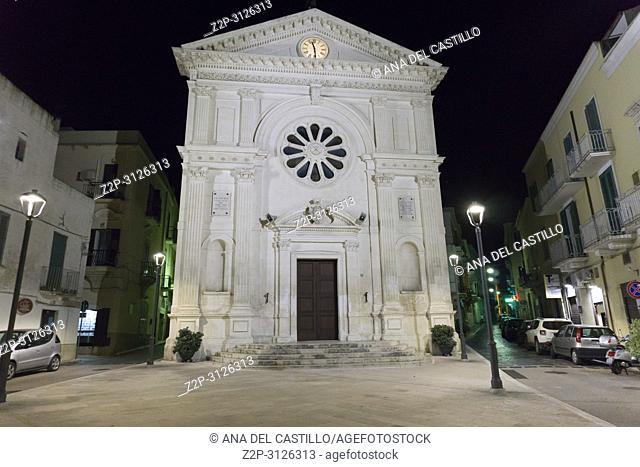 Nightscape in Mola di Bari on July 11, 2018 Puglia Italy