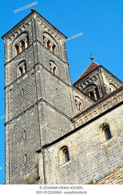 towers of the collegiate church of Quedlinburg