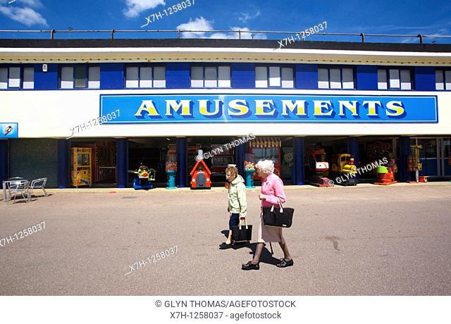 Amusement arcade, Bournemouth seafront, Bournemouth, England