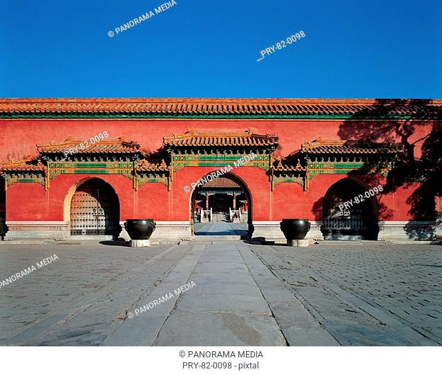 one gate in the Forbidden City,Beijing,China