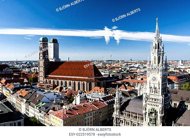 Panorama der Münchner Altsatdt