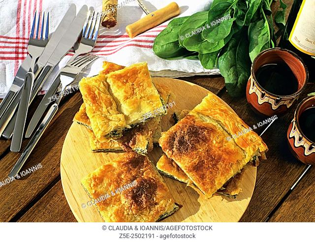 Spinach pie, a Greek specialty
