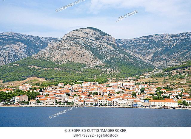 Town of Bol on the island of Brac, Adriatic Coast, Croatia, Europe